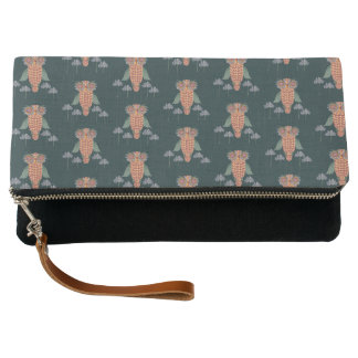The Owl of wisdom and flowers Clutch