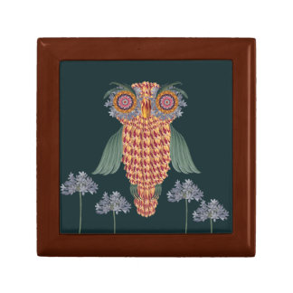 The Owl of wisdom and flowers Gift Box