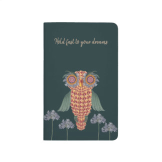 The Owl of wisdom and flowers Journal