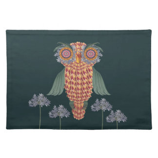 The Owl of wisdom and flowers Placemat