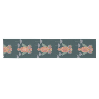The Owl of wisdom and flowers Short Table Runner