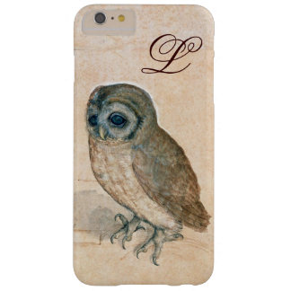 THE OWL , PIink ,Sepia Monogram Barely There iPhone 6 Plus Case
