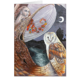 The Owl & the Dryad Greetings Card