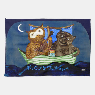 The Owl & The Pussycat Kitchen Towel