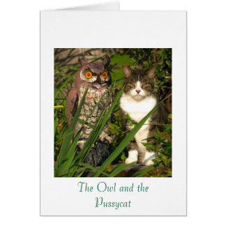 The Owl & the Pussycat Note Card