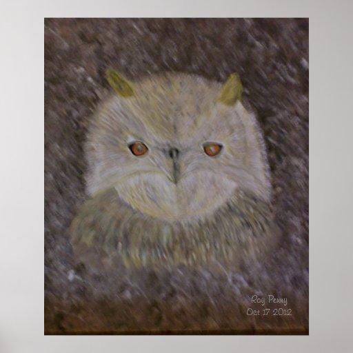 The Owls Eyes Print
