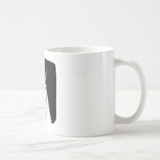 the ox is looking expressionless funny cartoon coffee mug