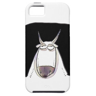 the ox is looking expressionless funny cartoon iPhone 5 cover