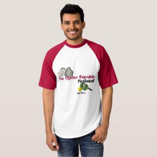 The Oyster Republic Pickleball - Wellfleet -raglan T-shirt