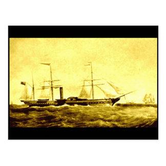 The Paddle Steamer, RMS 'Britannia', 1840 Postcard