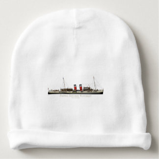 The Paddle Steamer Waverley by Tony Fernandes Baby Beanie