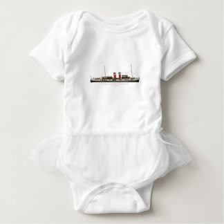 The Paddle Steamer Waverley by Tony Fernandes Baby Bodysuit
