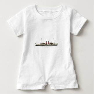 The Paddle Steamer Waverley by Tony Fernandes Baby Romper