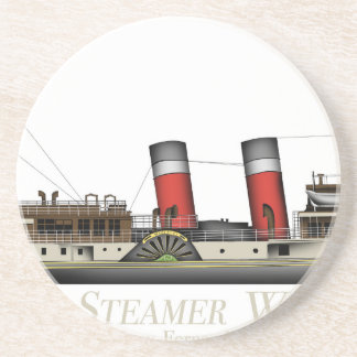 The Paddle Steamer Waverley by Tony Fernandes Beverage Coaster