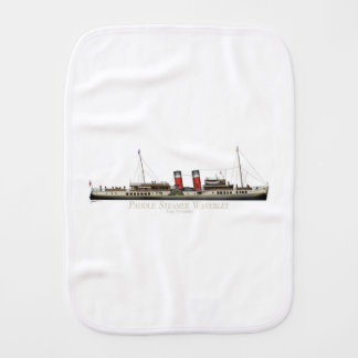 The Paddle Steamer Waverley by Tony Fernandes Burp Cloth