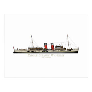 The Paddle Steamer Waverley by Tony Fernandes Postcard