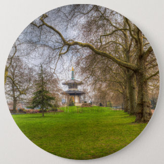 The Pagoda Battersea Park London 6 Inch Round Button