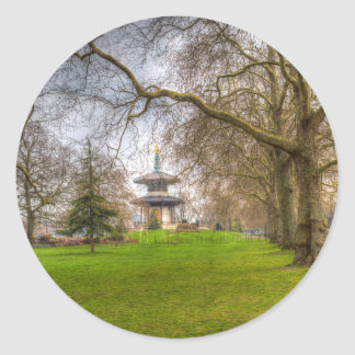 The Pagoda Battersea Park London Classic Round Sticker