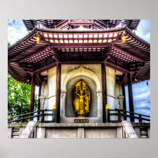 The Pagoda Battersea Park London Poster