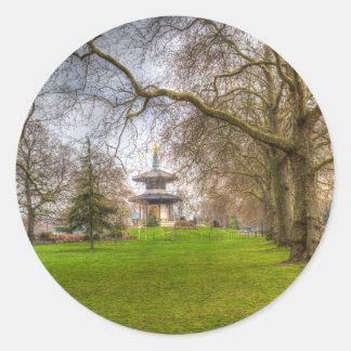 The Pagoda Battersea Park London Round Sticker