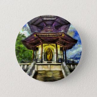 The Pagoda Van Gogh 2 Inch Round Button