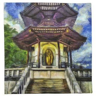 The Pagoda Van Gogh Napkin