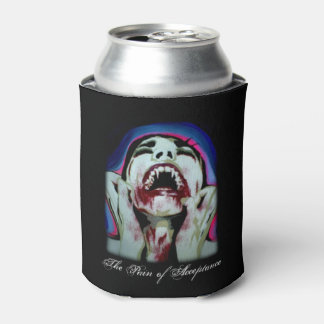 'The Pain of Acceptance' painting on a Can Cooler