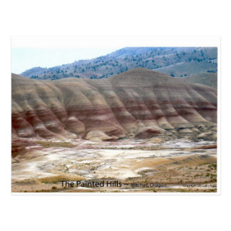 The Painted Hills Mitchell Oregon Photo Nature Art Postcard