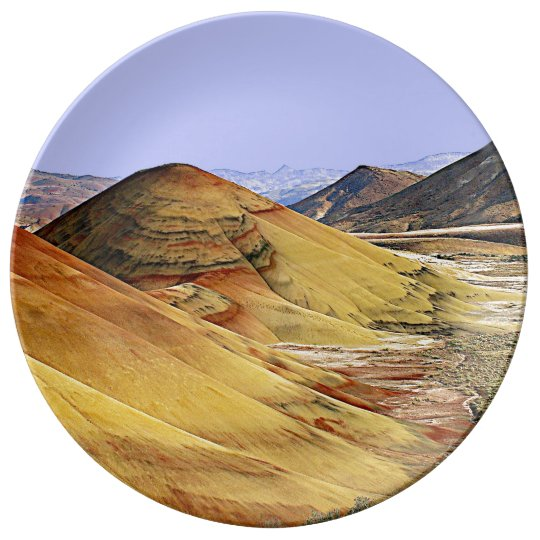 The Painted Hills Porcelain Plate