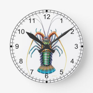 The Painted Spiny Lobster Wall Clock