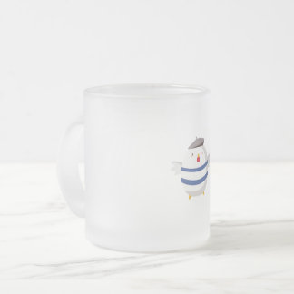 The Painter Bird Frosted Glass Coffee Mug