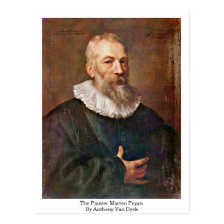 The Painter Marten Pepyn By Anthony Van Dyck Postcard