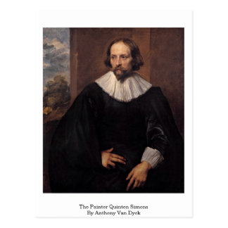 The Painter Quinten Simons By Anthony Van Dyck Postcard