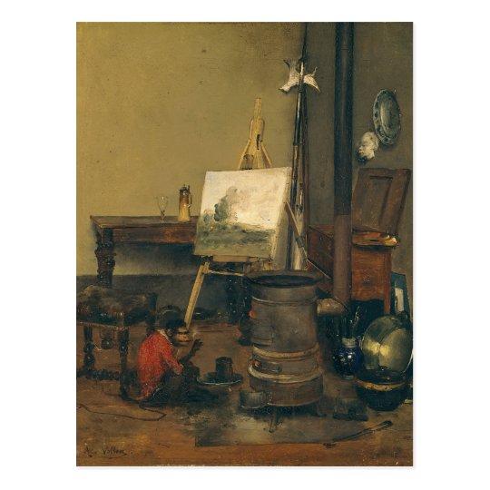 The Painter's Monkey Postcard