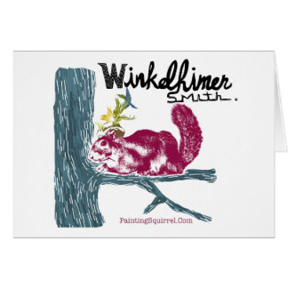 The Painting Squirrel,Winkelhimer Smith Greeting Card
