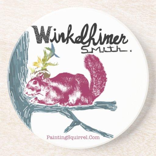 The Painting Squirrel,Winkelhimer Smith Drink Coaster