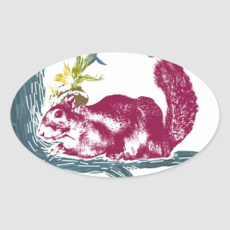 The Painting Squirrel,Winkelhimer Smith Oval Sticker