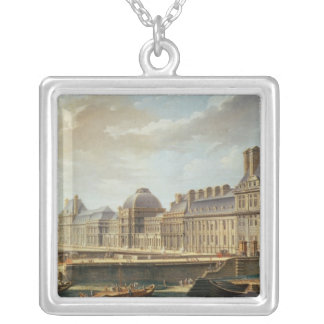 The Palace and Garden of the Tuileries, 1757 Silver Plated Necklace