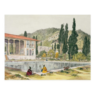 The Palace and Gardens of Ashref, Persia, plate 80 Postcard
