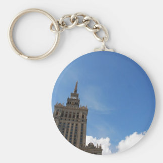 The Palace of Culture and Science Basic Round Button Keychain