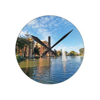 The Palace of Fine Arts California Round Clock