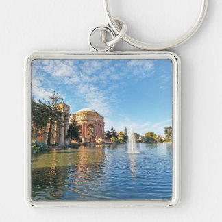 The Palace of Fine Arts California Silver-Colored Square Keychain