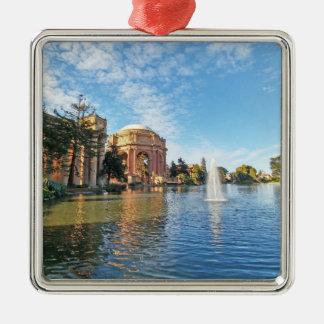 The Palace of Fine Arts California Silver-Colored Square Ornament