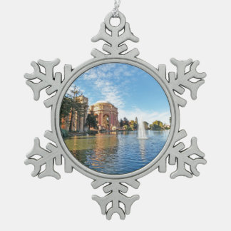 The Palace of Fine Arts California Snowflake Pewter Christmas Ornament