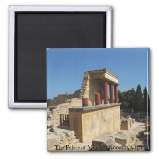 The Palace of Minos at Knossos, Crete,  GREECE Square Magnet