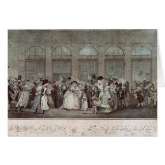 The Palais Royal Gallery's Walk, 1787 Card