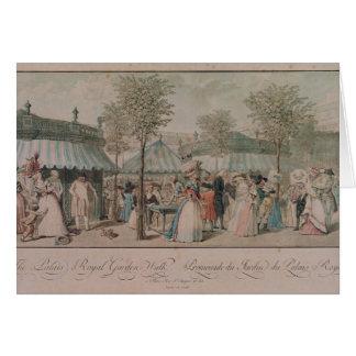 The Palais Royal Garden Walk, 1787 Card
