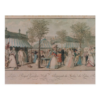 The Palais Royal Garden Walk, 1787 Postcard