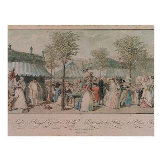 The Palais Royal Garden Walk, 1787 Postcard