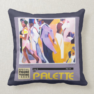The Palette Magazine Cover Pillow by Schink
